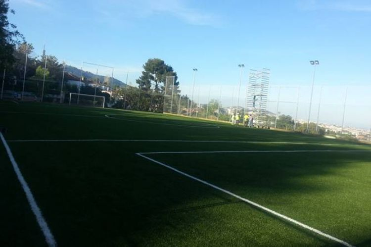 pista futbol-7 Thau Pedralbes Barcelona