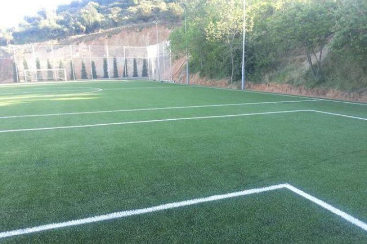 pista futbol 7 Thau Pedralbes Barcelona