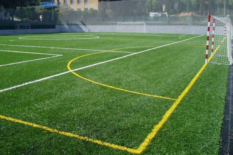 pista futbol 7 colegio Jesus Maria barcelona
